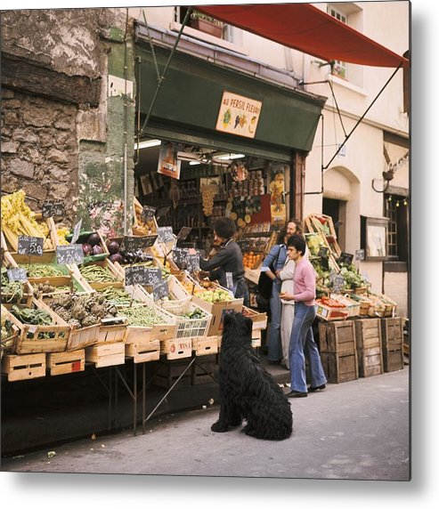 Paris Metal Print featuring the photograph Paris, Fruit And Vegetable Shop In The by Keystone-france