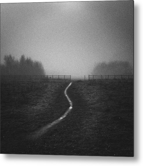 Tranquility Metal Print featuring the photograph Path In Mist by Doug Chinnery