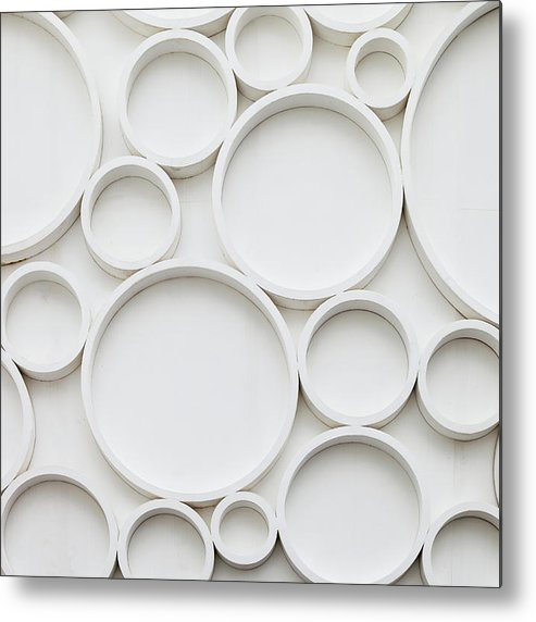 Roman Metal Print featuring the photograph Pattern Of Wall by Busakorn Pongparnit