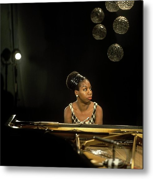 Nina Simone Metal Print featuring the photograph Photo Of Nina Simone by David Redfern