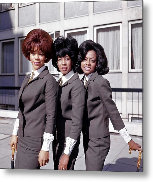 Mary Wilson Metal Print featuring the photograph Photo Of Supremes And Florence Ballard by Ca