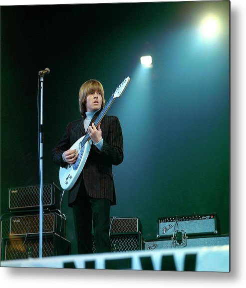 Guitarist Metal Print featuring the photograph Photo Of Vox Guitars And Brian Jones by David Redfern