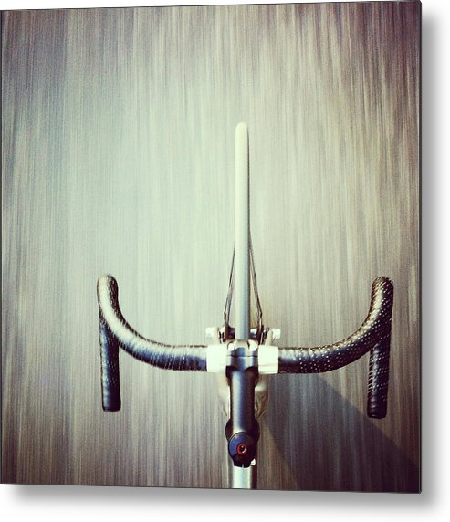 San Francisco Metal Print featuring the photograph Riding Bicycle by Joey Celis
