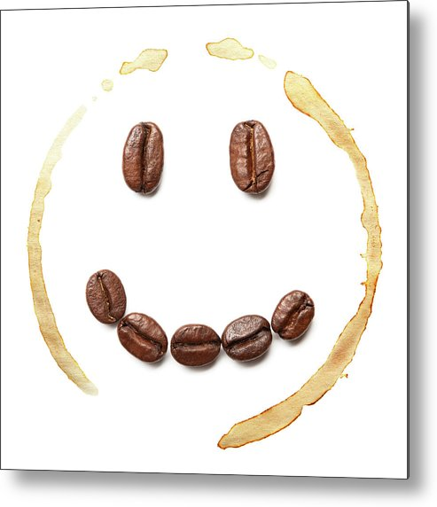 Spray Metal Print featuring the photograph Smile Coffee Beans by T kimura