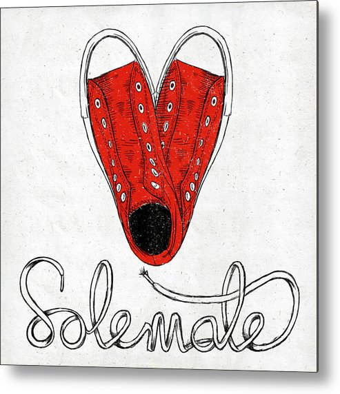 Sole Metal Print featuring the painting Sole Mate by Sd Graphics Studio