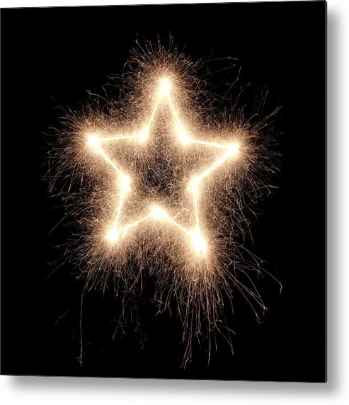 Holiday Metal Print featuring the photograph Sparkling Star by Amriphoto