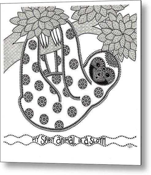 Spirit Animal Metal Print featuring the mixed media Spirit Animal by Siobhan