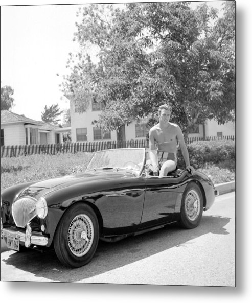 People Metal Print featuring the photograph Sportscar by Michael Ochs Archives