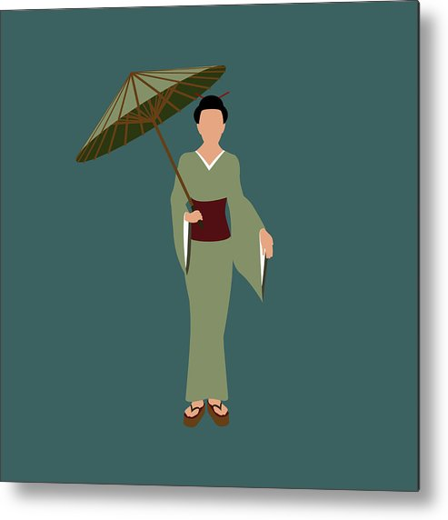 People Metal Print featuring the digital art Stereotypical Japanese Woman by Ralf Hiemisch