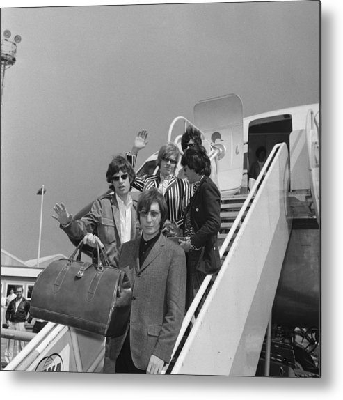 Rock Music Metal Print featuring the photograph Stones Off To America by Ted West