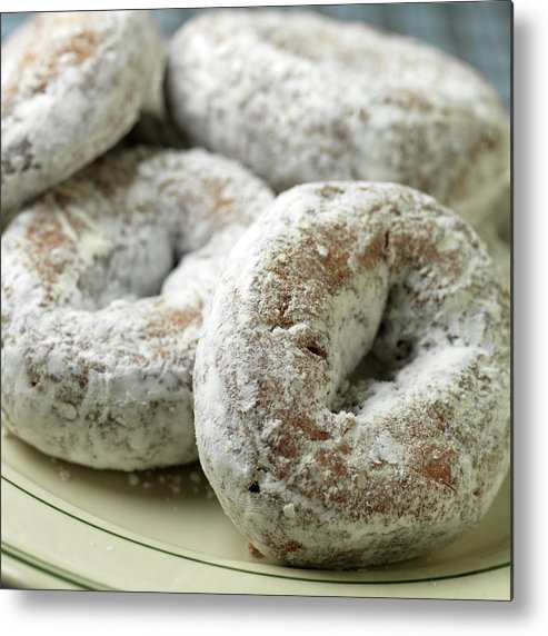 Unhealthy Eating Metal Print featuring the photograph Sugar Doughnuts by Brian Yarvin
