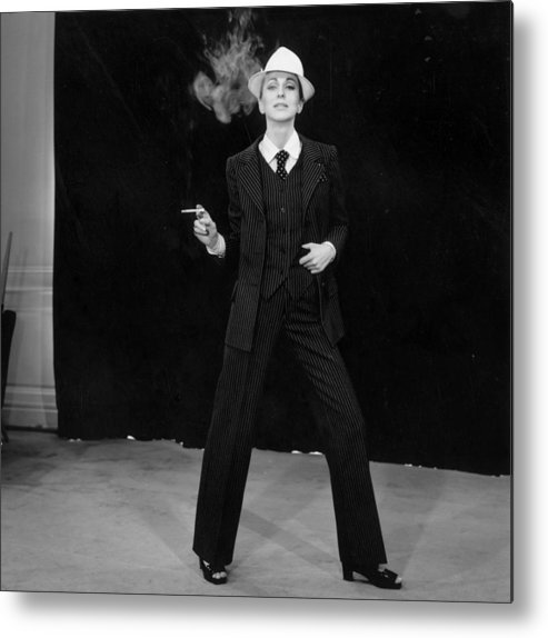 Smoking Metal Print featuring the photograph Suited Fashion by Reg Lancaster