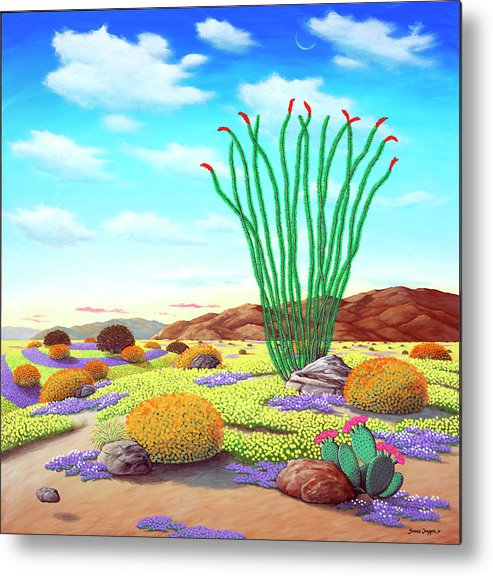 Flowers Metal Print featuring the painting Super Bloom by Snake Jagger