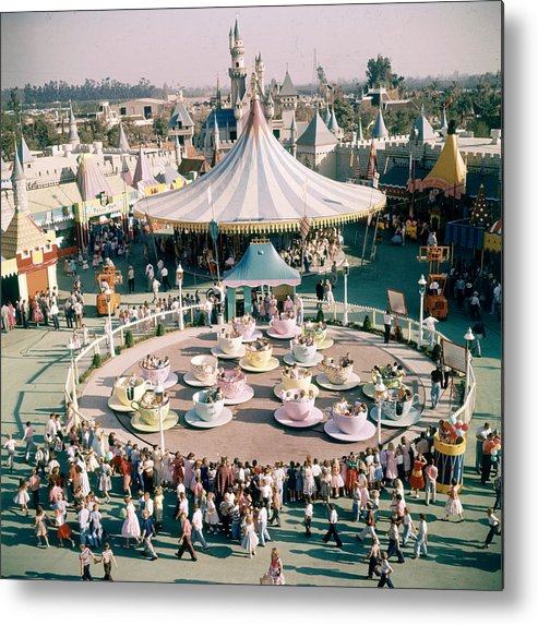 Timeincown Metal Print featuring the photograph Teacups At Disneyland by Loomis Dean
