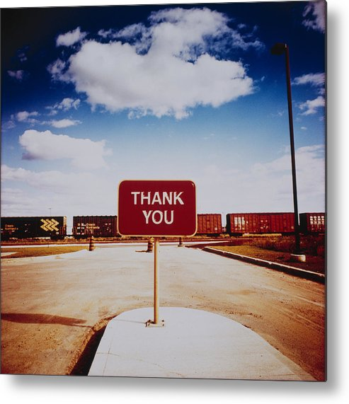 Thank You Metal Print featuring the photograph Thank You Sign by Silvia Otte