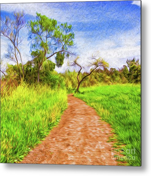 Archival Quality Prints Metal Print featuring the digital art The Path that Lies Ahead by Kenneth Montgomery