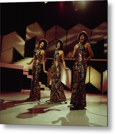 Singer Metal Print featuring the photograph The Supremes Perfom On Tv Show by Tony Russell