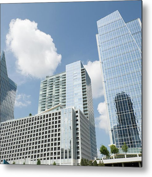 Atlanta Metal Print featuring the photograph Three Modern Buildings In Different by Ajansen