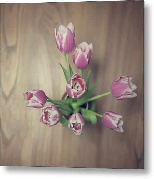 Vase Metal Print featuring the photograph Vase Full Of Happiness by Paula Daniëlse