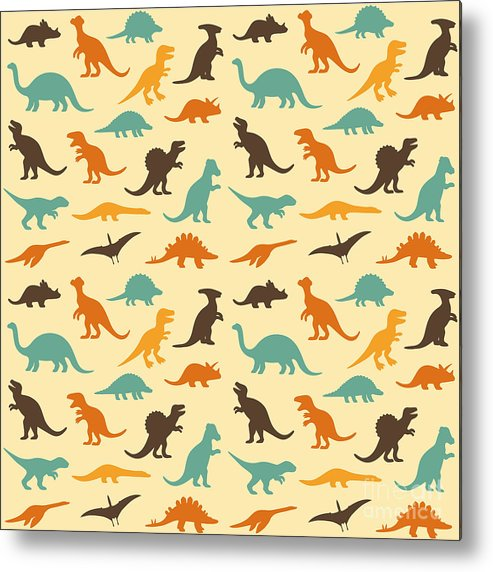 Raptor Metal Print featuring the digital art Vector Set Silhouettes by Eveleen