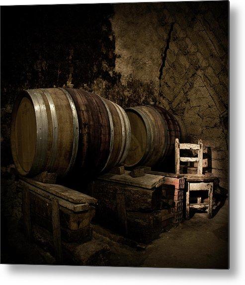 Fermenting Metal Print featuring the photograph Wine Cellar by Fotografias De Rodolfo Velasco