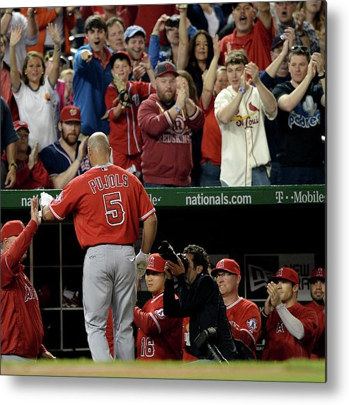 Crowd Metal Print featuring the photograph Albert Pujols by Patrick Smith