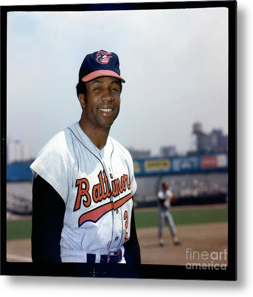 National League Baseball Metal Print featuring the photograph Frank Robinson by Louis Requena