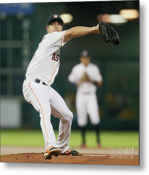 People Metal Print featuring the photograph Scott Kazmir by Bob Levey