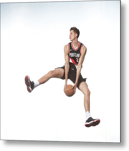 Nba Pro Basketball Metal Print featuring the photograph Zach Collins by Nathaniel S. Butler