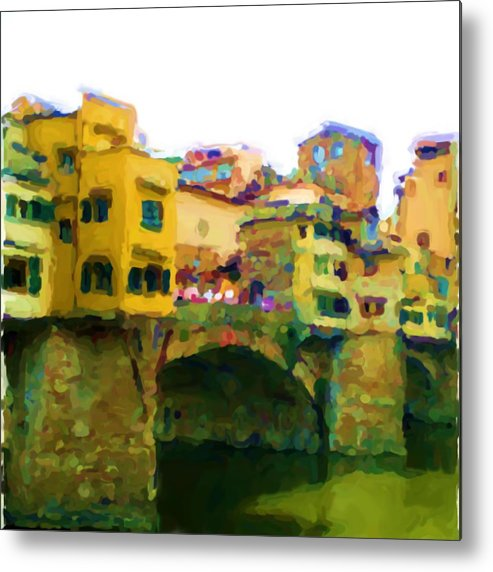 Florence Metal Print featuring the mixed media Florence by Asbjorn Lonvig