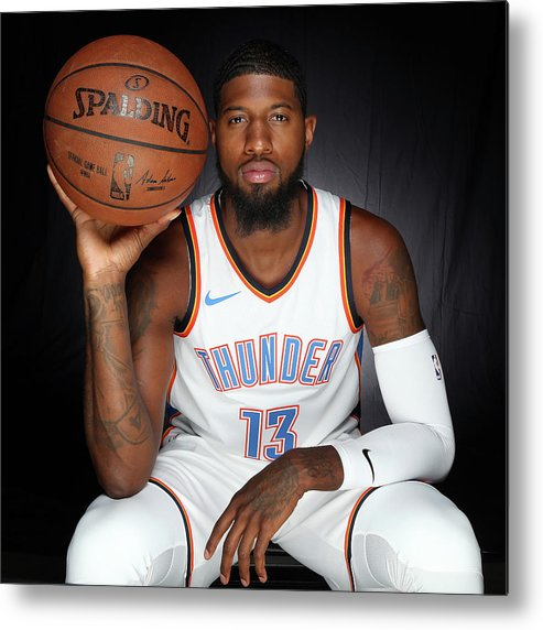 Media Day Metal Print featuring the photograph Paul George by Layne Murdoch