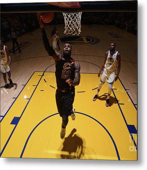 Playoffs Metal Print featuring the photograph Lebron James by Garrett Ellwood