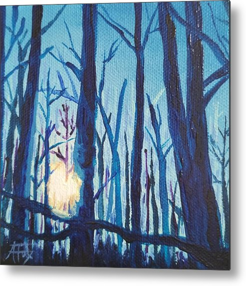 Chill Metal Print featuring the painting A Chilly Little Number by Allison Fox