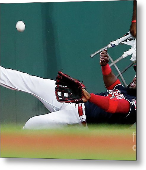 People Metal Print featuring the photograph Abraham Almonte and Eric Hosmer by Ron Schwane