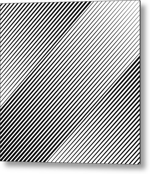 Material Metal Print featuring the drawing Abstract Background Slope Black Diagonal Lines by Jobalou