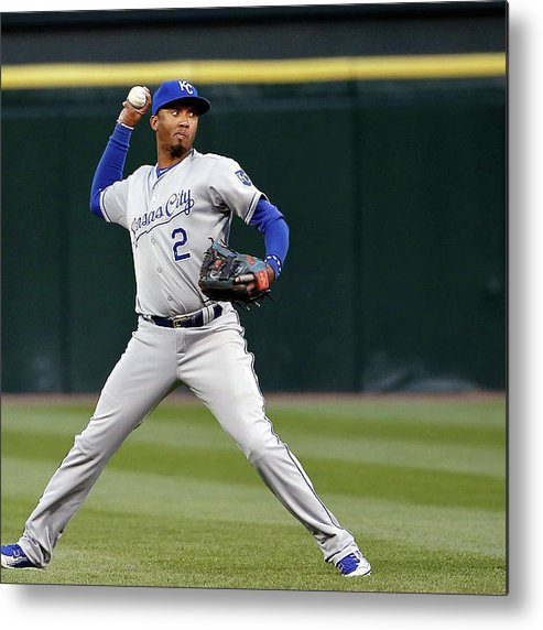 Second Inning Metal Print featuring the photograph Alcides Escobar by Jon Durr