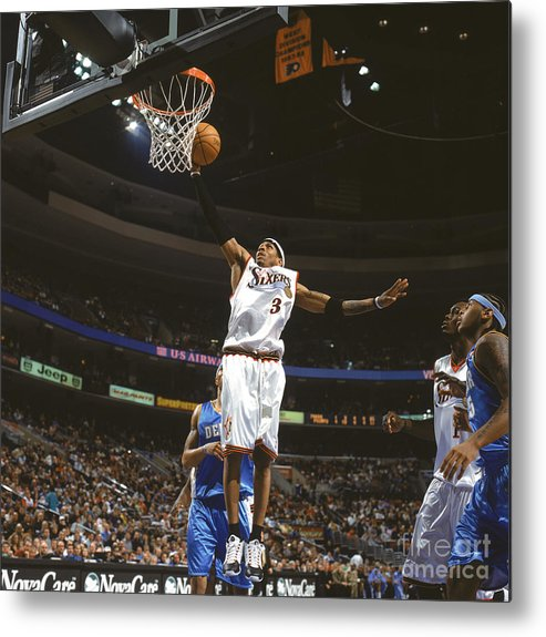 Nba Pro Basketball Metal Print featuring the photograph Allen Iverson by Nathaniel S. Butler
