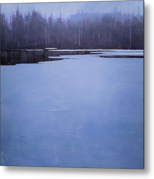 Metal Print featuring the painting Bearskin Lake by Mary Jo Van Dell