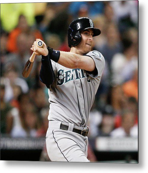 American League Baseball Metal Print featuring the photograph Brad Miller by Bob Levey