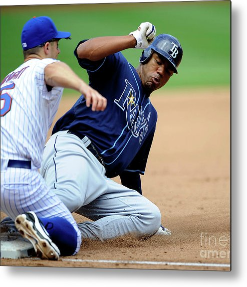 People Metal Print featuring the photograph Carl Crawford and David Wright by Icon Sports Wire