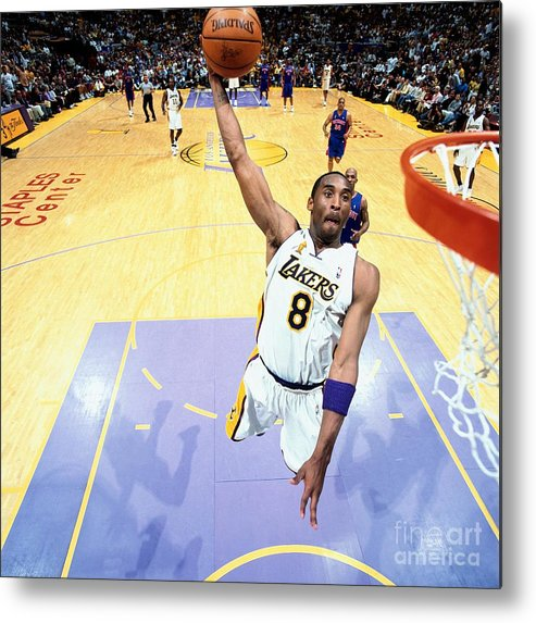Nba Pro Basketball Metal Print featuring the photograph Chauncey Billups and Kobe Bryant by Nathaniel S. Butler
