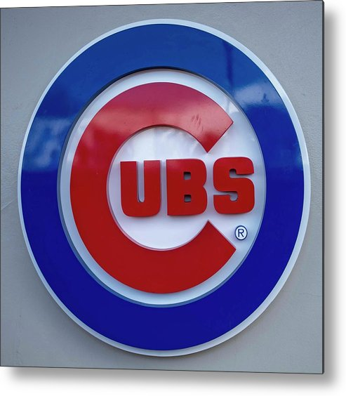 Chicago Cubs Metal Print featuring the photograph Chicago Cubs by David Bearden