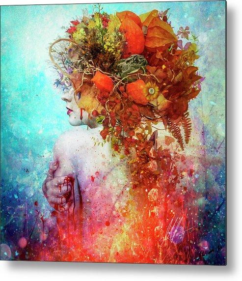 Surreal Metal Print featuring the digital art Compassion by Mario Sanchez Nevado
