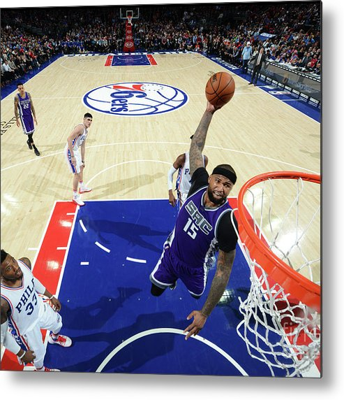 Nba Pro Basketball Metal Print featuring the photograph Demarcus Cousins by Jesse D. Garrabrant