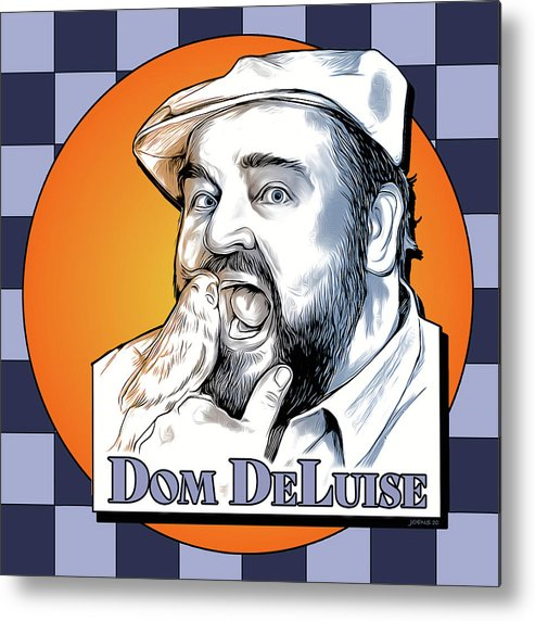 Dom Deluise Metal Print featuring the digital art Dom and the Bird by Greg Joens