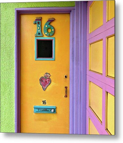 Metal Print featuring the photograph Door 16 by Julie Gebhardt