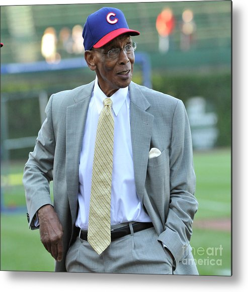 People Metal Print featuring the photograph Ernie Banks by David Banks