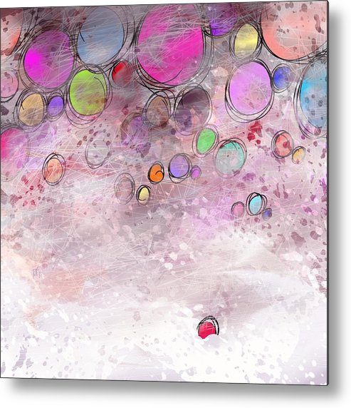 Abstract Metal Print featuring the digital art In a world alone by William Russell Nowicki