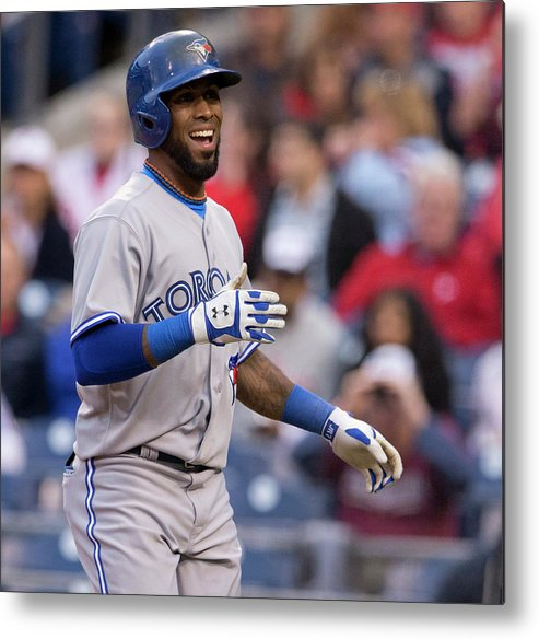 Citizens Bank Park Metal Print featuring the photograph Jose Reyes by Mitchell Leff