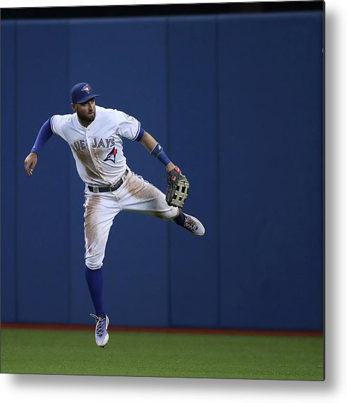 People Metal Print featuring the photograph Kevin Pillar and Jonathan Schoop by Tom Szczerbowski